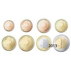Pays-Bas 2013 : Série complète euro neuve