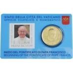 Vatican 2013 -  Coincard François Ier + Benoit XVI