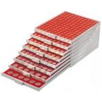 BOX MODULABLE pour 1 centime euro couleur rouge foncé
