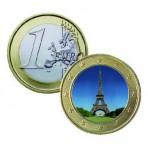 Monument de la République 2013 - 1 euro domé en couleur Tour Eiffel