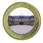 Monument de la République 2013 - 1 euro domé en couleur Palais de l'Elysée