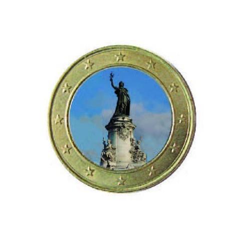 Symbole de la République 2013 - 1 euro domé en couleur Place de la République