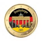 Porte de Brandebourg 2013 - 1 euro domé en couleur