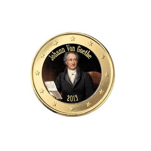 Goethe 2013 - 1 euro domé en couleur