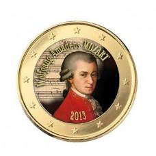 Mozart 2013 - 1 euro domé en couleur