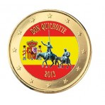 Don Quichotte 2013 - 1 euro domé en couleur