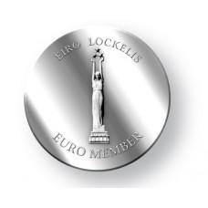 Pièce argentée commémorative adoption de l'euro par la Lettonie