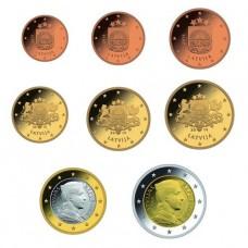 Lettonie 2014 : Série complète euro neuve