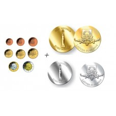 Lettonie 2014 - La série complète des huit pièces euro + les 2 pièces commémoratives