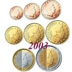 Luxembourg 2003 : Série complète euro neuve