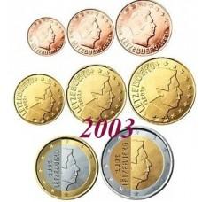 Luxembourg 2003 : serie de 1 cent a 2 euros