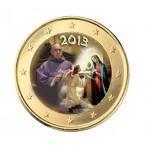 Pape Francois 2013 Annonciation - 1 euro domé en couleur