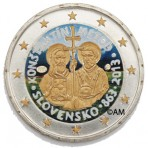 Slovaquie 2013 - 2 euro commémorative en couleur et dorures à l'or fin 24 carats