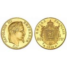 100 Francs Or Napoléon III tête laurée