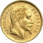 20 Francs OR Napoléon III tête laurée