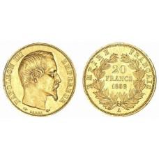20 Francs Or Napoléon III tête nue