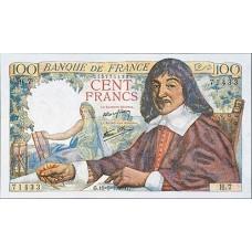 100  Francs - Descartes - 1942-1944 - Belle qualité