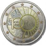 Belgique 2013- 2 euro commémorative en couleur