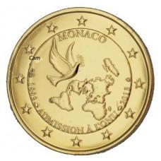 Monaco 2013 - 2 euro commémorative ONU dorée à l'or fin 24 carats