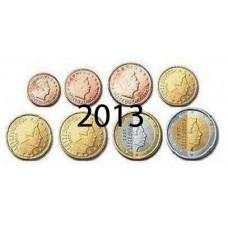 Luxembourg 2013 : Série complète euro neuve