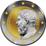 Grèce 2013 - 2 euro commémorative 'Platon' en couleur