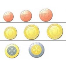 Malte 2008 : serie de 1 cent a 2 euros
