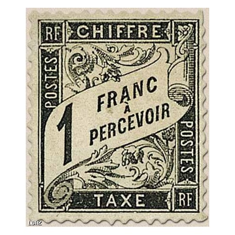 Timbre Taxe n°22 luxe neuf avec gomme