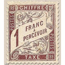Timbre Taxe n°25 luxe neuf avec gomme