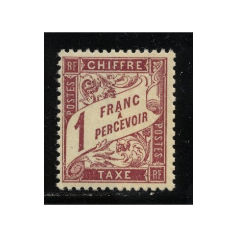 Timbre Taxe n°40 luxe neuf avec gomme