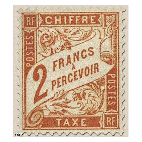 Timbre Taxe n°41 luxe neuf avec gomme
