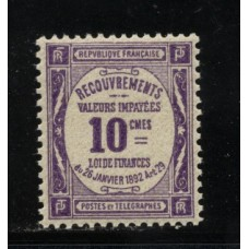 Timbre Taxe n°44 luxe neuf avec gomme
