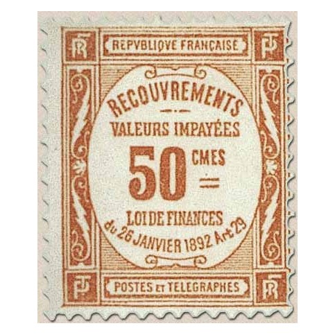 Timbre Taxe n°47 luxe neuf avec gomme