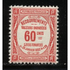 Timbre Taxe n°48 luxe neuf avec gomme