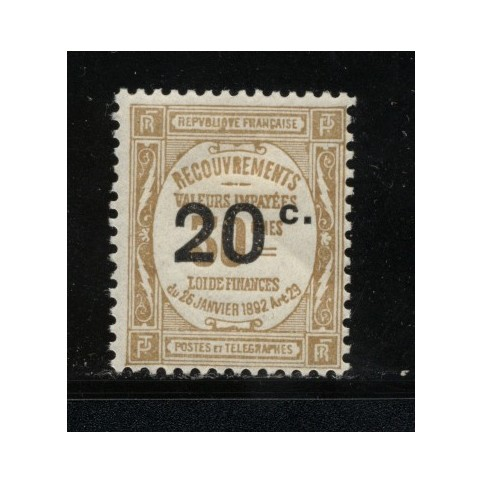 Timbre Taxe n°49 luxe neuf avec gomme