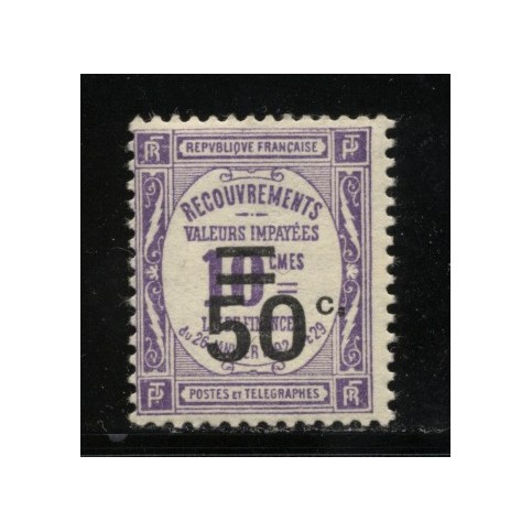 Timbre Taxe n°51 luxe neuf avec gomme