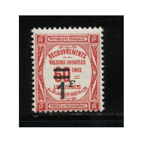 Timbre Taxe n°53 luxe neuf avec gomme