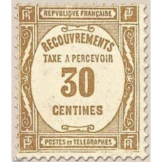 Timbre Taxe n°57 luxe neuf avec gomme