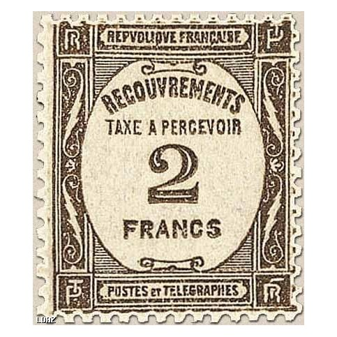 Timbre Taxe n°62 luxe neuf avec gomme