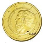 Grèce 2013 - 2 euro commémorative 'Platon' dorée à l'or fin 24 carats