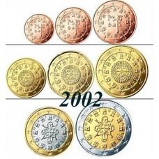 Portugal 2002 : serie de 1 cent a 2 euros