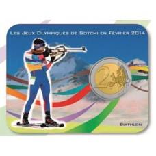 Coincard 2 euro Coubertin Jeux Olympiques - Biathlon