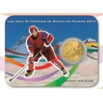 Coincard 2 euro Coubertin Jeux Olympiques - Hockey sur glace