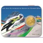 Coincard 2 euro Coubertin Jeux Olympiques - Saut à ski
