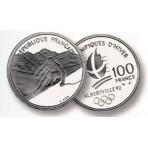 100 Francs Argent Albertville 1992 - Ski Alpin