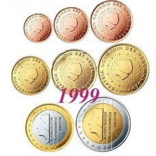 Pays-Bas 1999 : serie de 1 cent a 2 euros
