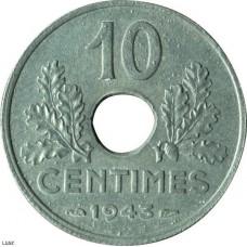 Dix centimes Etat Français Grand module