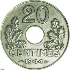 Vingt centimes Etats Français (chiffre)