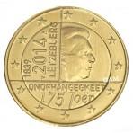 Luxembourg 2014 - 2 euro commémorative dorée à l'or fin 24 carats