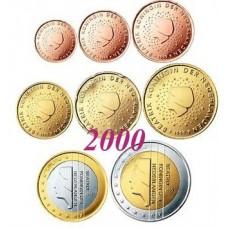 Pays-Bas 2000 : série de 1 cent à 2 euros