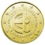 Slovaquie 2014 - 2 euro commémorative dorée à l'or fin 24 carats